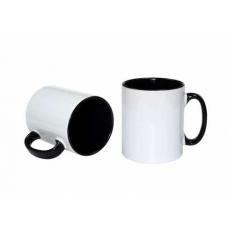 İçi ve kulpu siyah renkli Beyaz Kupa